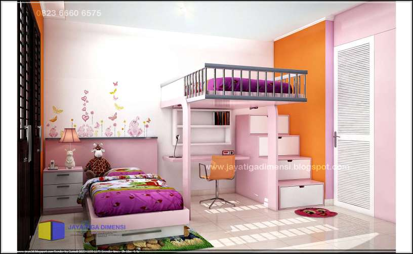 tips lengkap mendesain kamar tidur anak perempuan